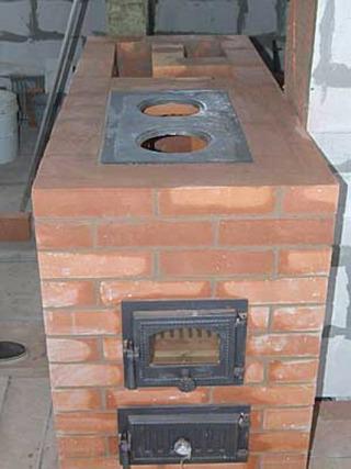 Простая печь для дома своими руками из кирпича