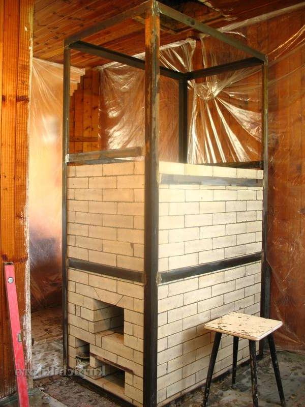 печь в каркасном доме фото