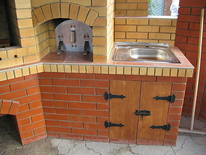 Русская мини печь на даче