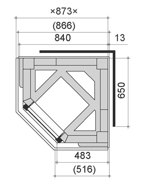 Размеры готового металлического углового очага