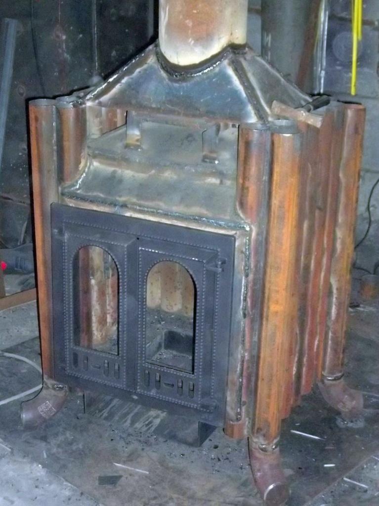 Печь-камин из железа своими руками