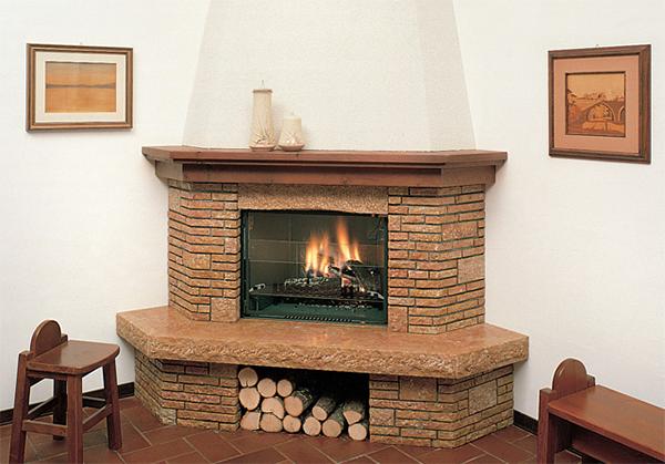 Отделка поверхности выполняется любыми огнеупорными материалами (искусственный и природный камень, декоративная штукатурка, изразцы, шамот, керамика)