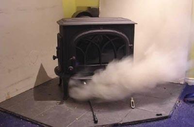 Обратная тяга в дымоходе