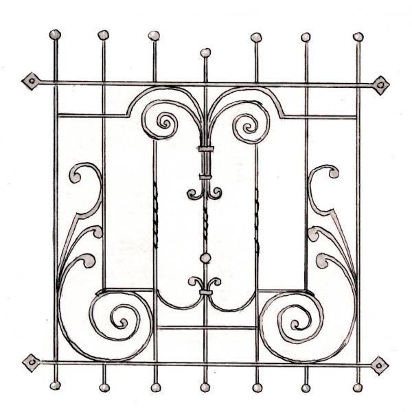 Эскиз дизайнерской вентиляции для камина