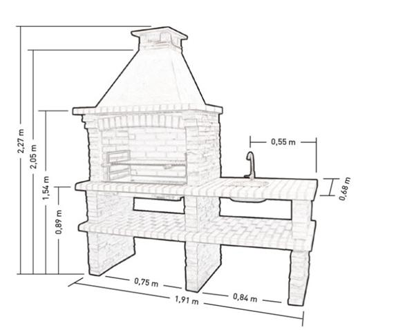 Тандыр из кирпича под крышей чертеж
