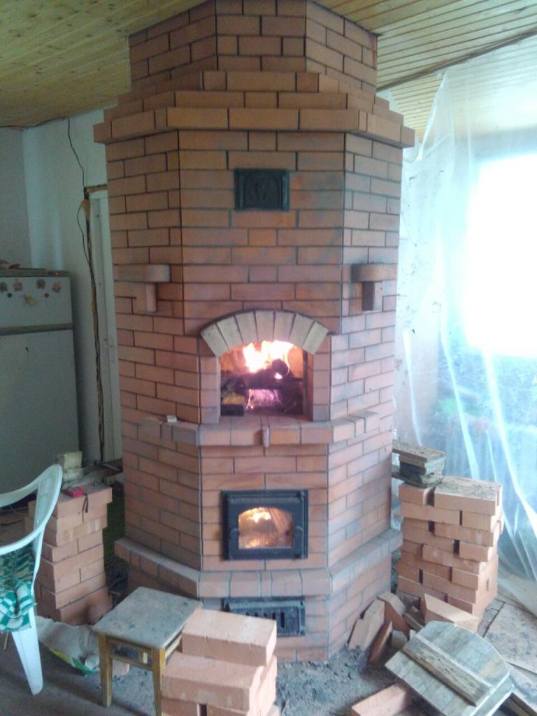 Печь угловая для дома своими руками фото 559