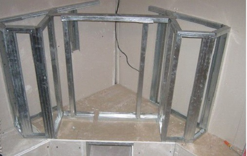 Угловой портал для электрокамина из гипсокартона фото